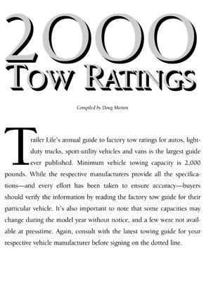 2000 Towing Guide