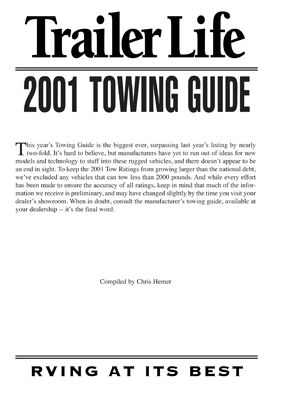 2001 Towing Guide