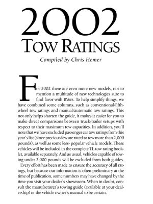 2002 Towing Guide